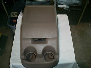 Ford Truck Bronco Bucket Seat Center Console Assembly Tan Complete