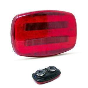 Battery Powered Magnetic Mounted Red Two Function Safety Light