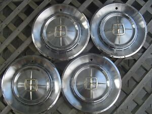 1960 60 Lincoln Mark Continental Hubcaps Wheel Covers Center Caps Vintage 15 In