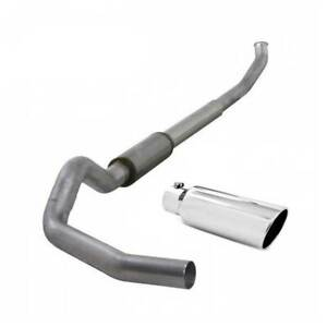 Diamond Eye Single 5 Turbo back Exhaust W Tip For Dodge Cummins 5 9l 04 5 07