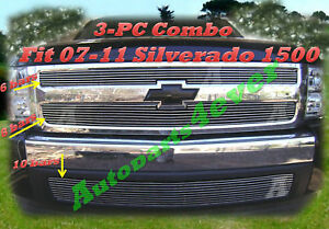Billet Grille 2pc For 07 13 2007 2008 2009 2010 2012 2013 Chevy Silverado 1500
