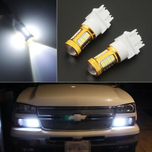 2pcs Hid White 3157 4114 4157 3156 Daytime Running Lights Drl Smd Cree Led Bulbs