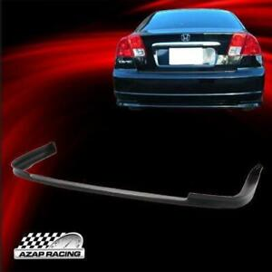 2001 03 Rear Bumper Lip Spoiler Polypropylene Type R Fits Honda Civic Sedan 4dr