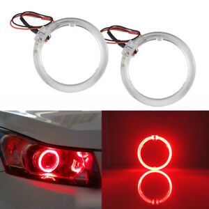 2pcs Red 2 5 Led Light Guide Angel Eyes Halo Rings For Car Headlights Retrofit