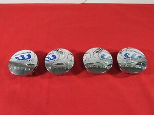 Dodge Ram Chrysler Jeep Chrome Mopar Logo Center Wheel Caps X4 New Oem Mopar