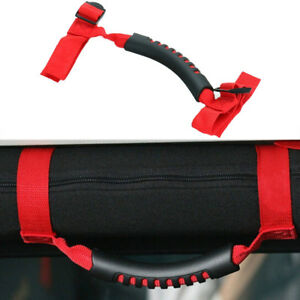 Red Thin Ultimated Roll Bar Grab Handle Fit For Jeep Wrangler Yj Cj Tj Jk Jl