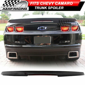 2010 2013 Zl1 Style Trunk Spoiler Wing Black W Led 3rd Brake Fits Chevy Camaro