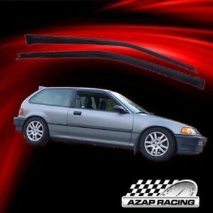 Fits 88 89 Honda Civic Hatchback Slim Acrylic Window Visors 2pc