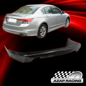 2008 10 Mugen Style Black Pu Rear Bumper Lip Spoiler Fit Honda Accord Sedan 4dr
