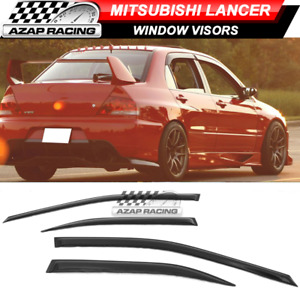 Fits 03 06 Mitsubishi Lancer Oe Acrylic Window Visors 4pc