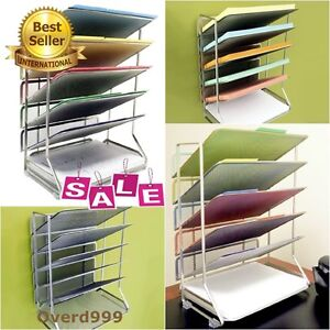 Tray Mesh Document Desk Wall Mount Organizer Holder Letter Paper Office School