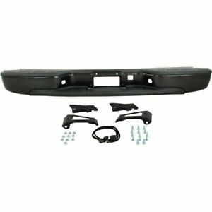 New Rear Step Bumper Black Steel For Gmc Sierra Chevrolet Silverado 1999 2006