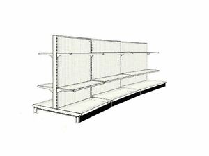 20 Aisle Gondola For Convenience Store Shelving Used 54 Tall 36 W