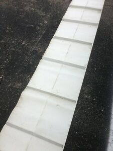 White Conveyor Belt 144 Length 24 Width With Rubber Cleating Nwob