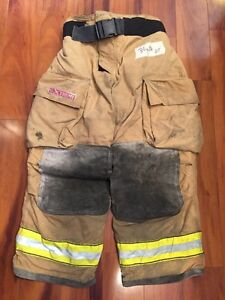 Firefighter Turnout Bunker Pants Globe 34x28 G Extreme Halloween Costume