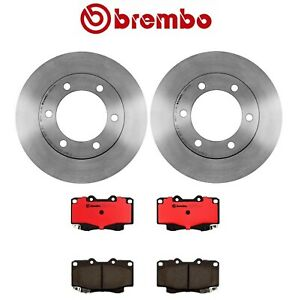 For Set Of 2 Brembo Front Disc Brake Rotors Ceramic Pads For 4runner Tacoma
