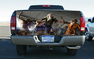 Washington Zombie Hunter Truck Tailgate Wrap Vinyl Graphic Decal Sticker Wrap