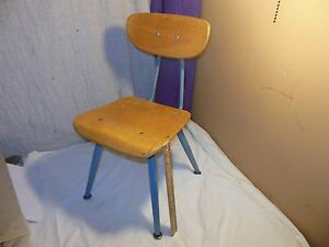 Vintage Mid Century Modern American Seating Child School Chair Classmate Eames X