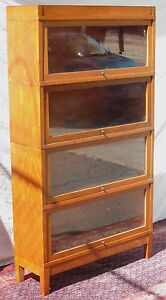 Arts Crafts Globe Wernicke Tiger Oak Mission Barrister Bookcase Extra Choice