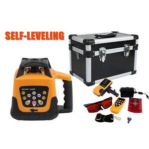 Ridgeyard Automatic Self leveling 500m Red Beam 360 Rotary Laser Level Kit