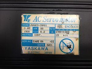 Yaskawa Ac Servo Motor Usaged 09as1