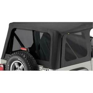 Bestop Replace a top Tinted Window Kit Black Denim For Jeep Wrangler 1997 2002