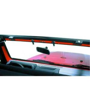 Bestop No drill Windshield Channel Black For Jeep Wrangler 1997 2006