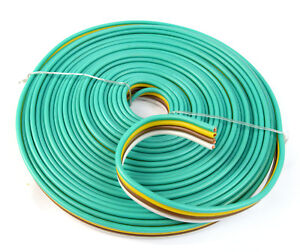 14 Gauge Awg 25 Feet Flat Trailer Light Cable Wiring Harness 4 Wire