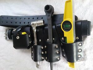 Scaffolding Leather Belt Set With Full Tools Heavy Duty Black Spanner 19 21