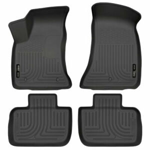 Husky Weatherbeater 1st 2nd Row Floor Mat Blk For Chrysler 300 charger 11 20 Rwd