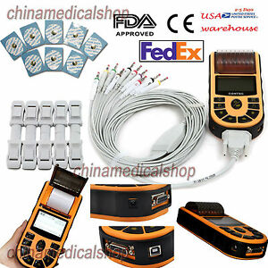 Handheld Digital Single Channel 12 Lead Ecg ekg Machine Electrocardiograph Fda