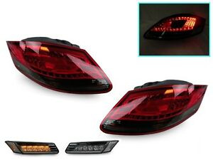 Combo Led Red Smoke Tail Light Side Marker For 05 08 Porsche Boxster Cayman 987