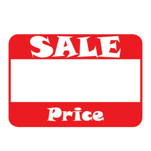 Self adhesive Sale Price Rectangular Retail Sticker Labels 2 L X 1 1 500 Pack