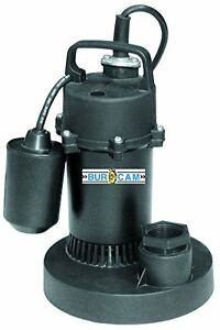 Burcam 300700p Submersible Sump Pump Float Switch Model 1 2 Hp 115v Noryl