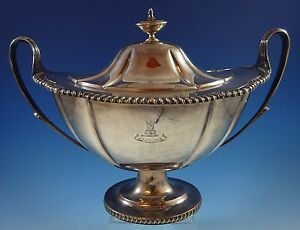 English Silverplate By N B S Soup Tureen With Silverplate On Copper 1261