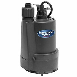 Superior Pump 91330 1 3 Hp Thermoplastic Submersible Utility Pump