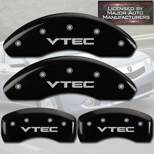 2004 2005 Honda Civic Si Front Rear Black Mgp Brake Disc Caliper Covers Vtec