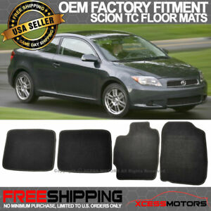 Fit 04 10 Scion Tc Oe Factory Fitment Floor Mats Carpet Nylon Black