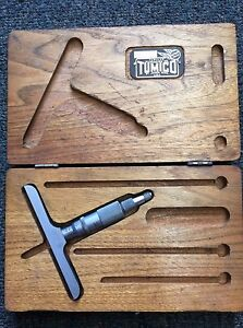 Vintage Tumico D 4 3r Feather Touch Tubular Micrometer W wooden Case