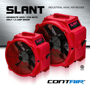 Contair Slant 4000 Cfm Commercial Axial Air Mover Fan Blower With Gfci Red