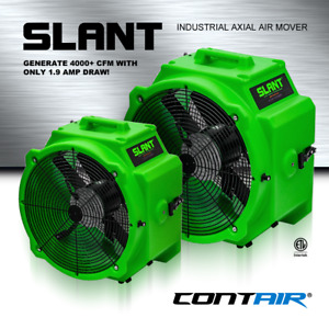 Contair Slant 4000 Cfm Commercial Axial Air Mover Fan Blower With Gfci Green
