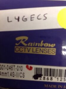Rainbow L4gecs Lens 1 3 4mm F 1 4 Auto iris Cs Mount