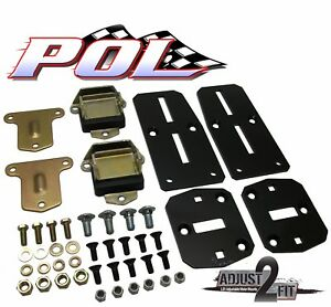 Performance Online 55 57 Chevy Adjustable Ls Engine Adapter Kit With Poly Pads