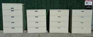 Choice Of Hon 4 Drawer Or 5 Drawer cubby Heavy Duty Lateral Filing Cabinet Putty
