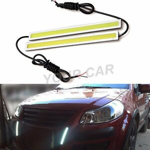 Extreme Bright White Cob Led Daytime Running Lights Lamps Drl Waterproof
