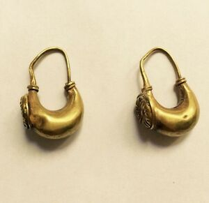 Very Rare Greek Gold Earrings 700 600 Bc