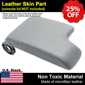 Leather Armrest Console Lid Cover For Bmw E46 3 Series 1999 2004 Light Gray Lhd