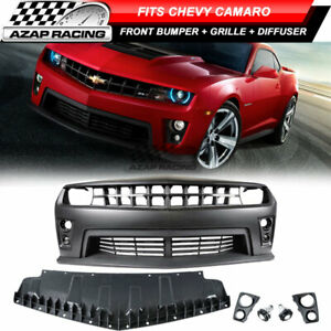 10 13 Zl1 Pp Front Bumper Kit Grille Bumper Lip Diffuser Fits Chevy Camaro