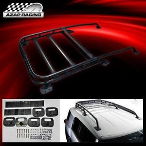 07 08 14 Offroad Style Black Roof Rack Top Cargo Aluminum Fits Toyota Fj Cruiser