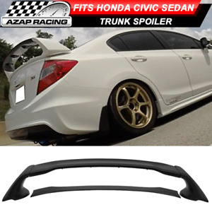 12 15 Mugen Style Rear Trunk Spoiler Wing Abs Bodykit 4pcs Fit Honda Civic 4dr